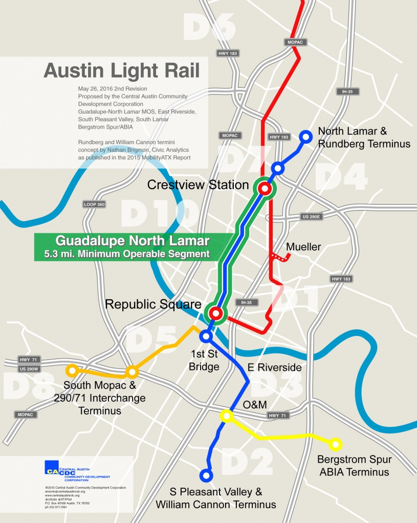 Austin Light Rail - Austin Texas Public Transportation Map