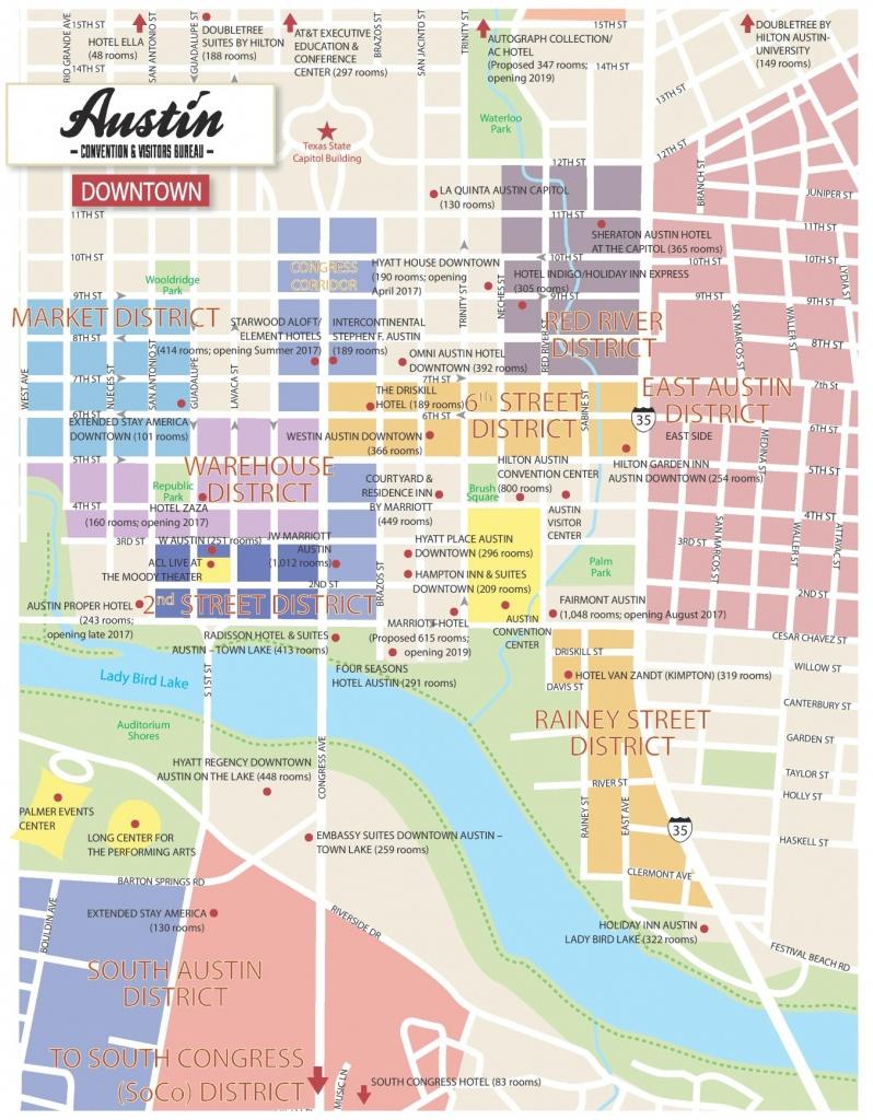 Austin Maps | Texas, U.s. | Maps Of Austin - Printable Map Of Austin