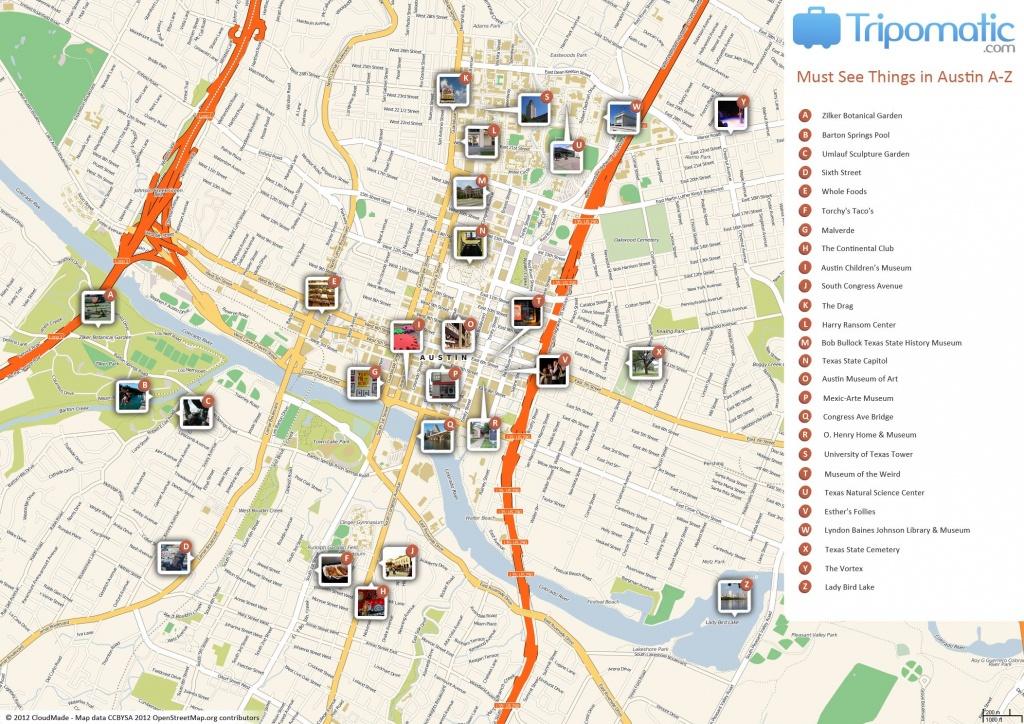 Austin Printable Tourist Map | Free Tourist Maps ✈ | Tourist Map - Texas Sightseeing Map