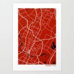 Austin Texas Map Art Printstudiotesouro | Society6 - Texas Map Artwork