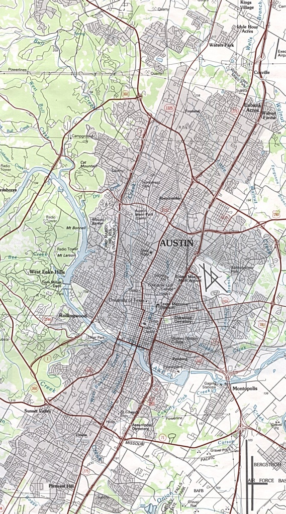 Austin, Texas Maps - Perry-Castañeda Map Collection - Ut Library Online - Austin Tx Map Of Texas