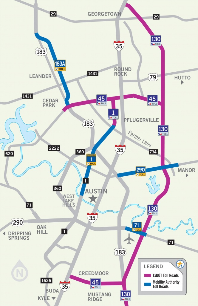 Austin Toll Road Map - Map Of Austin Toll Road (Texas - Usa) - Texas Toll Roads Map