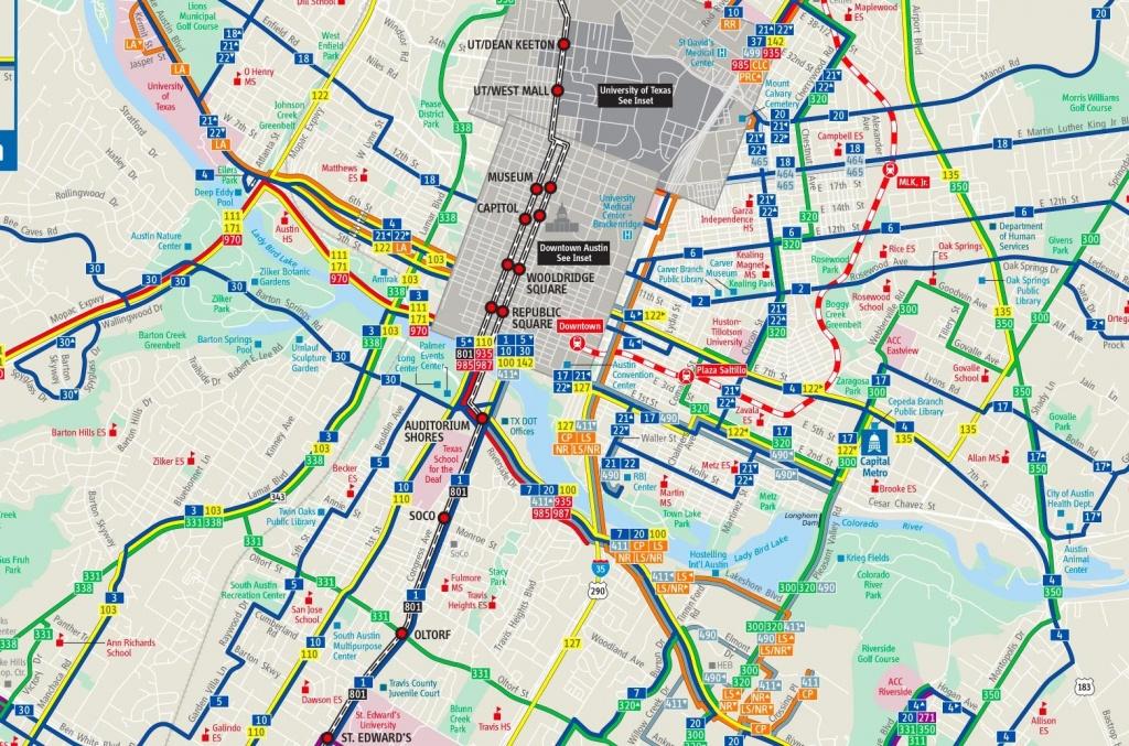 Austin Transport Map - Austin Public Transportation Map (Texas - Usa) - Austin Texas Public Transportation Map