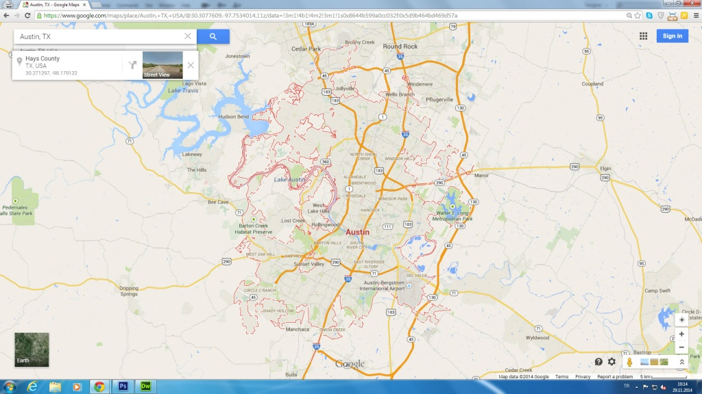 Austin Tx Google Maps And Travel Information | Download Free Austin - Austin Texas Google Maps