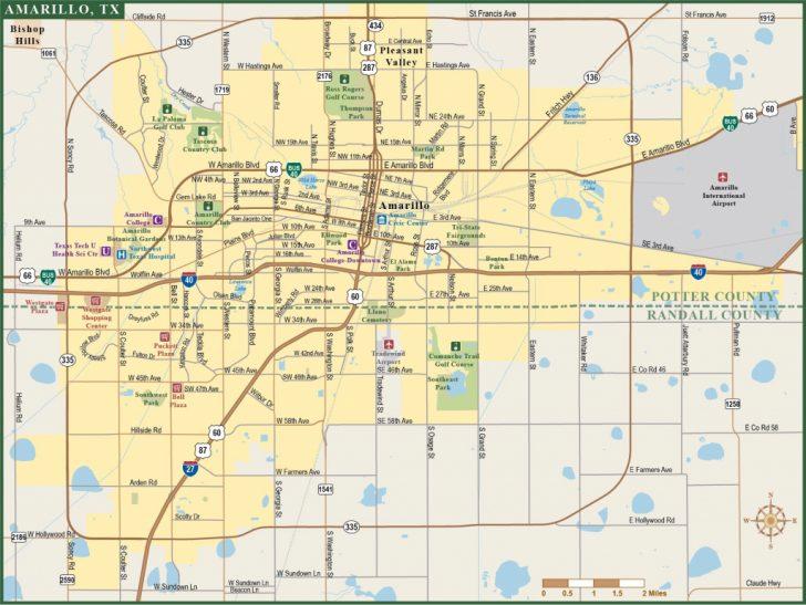 City Map Of Amarillo Texas
