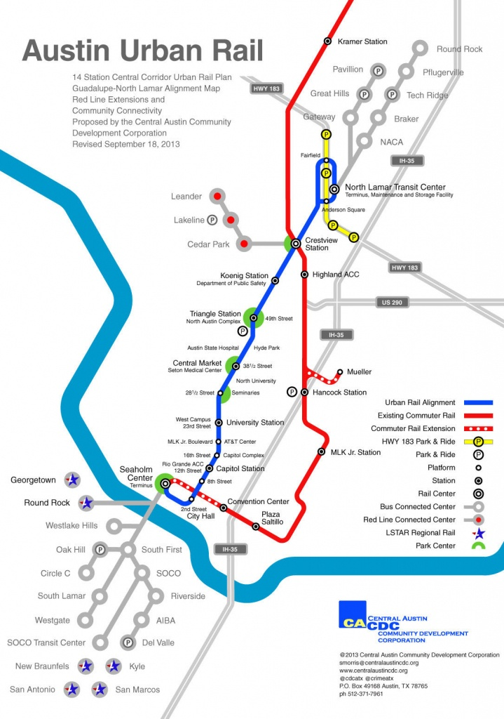 Austin Urban Rail In 7 Maps | Kut - Austin Texas Public Transportation Map