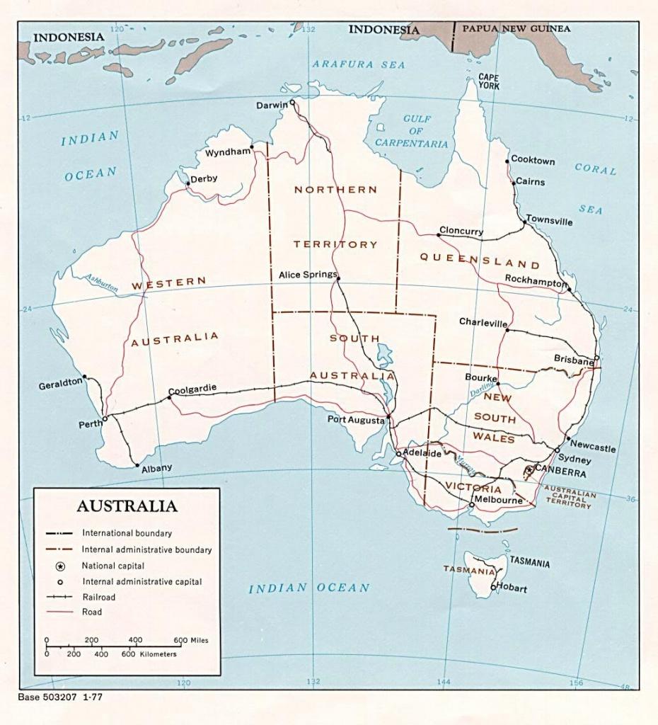 Australia Maps   Printable Maps Of Australia For Download - Printable Map Of Western Australia