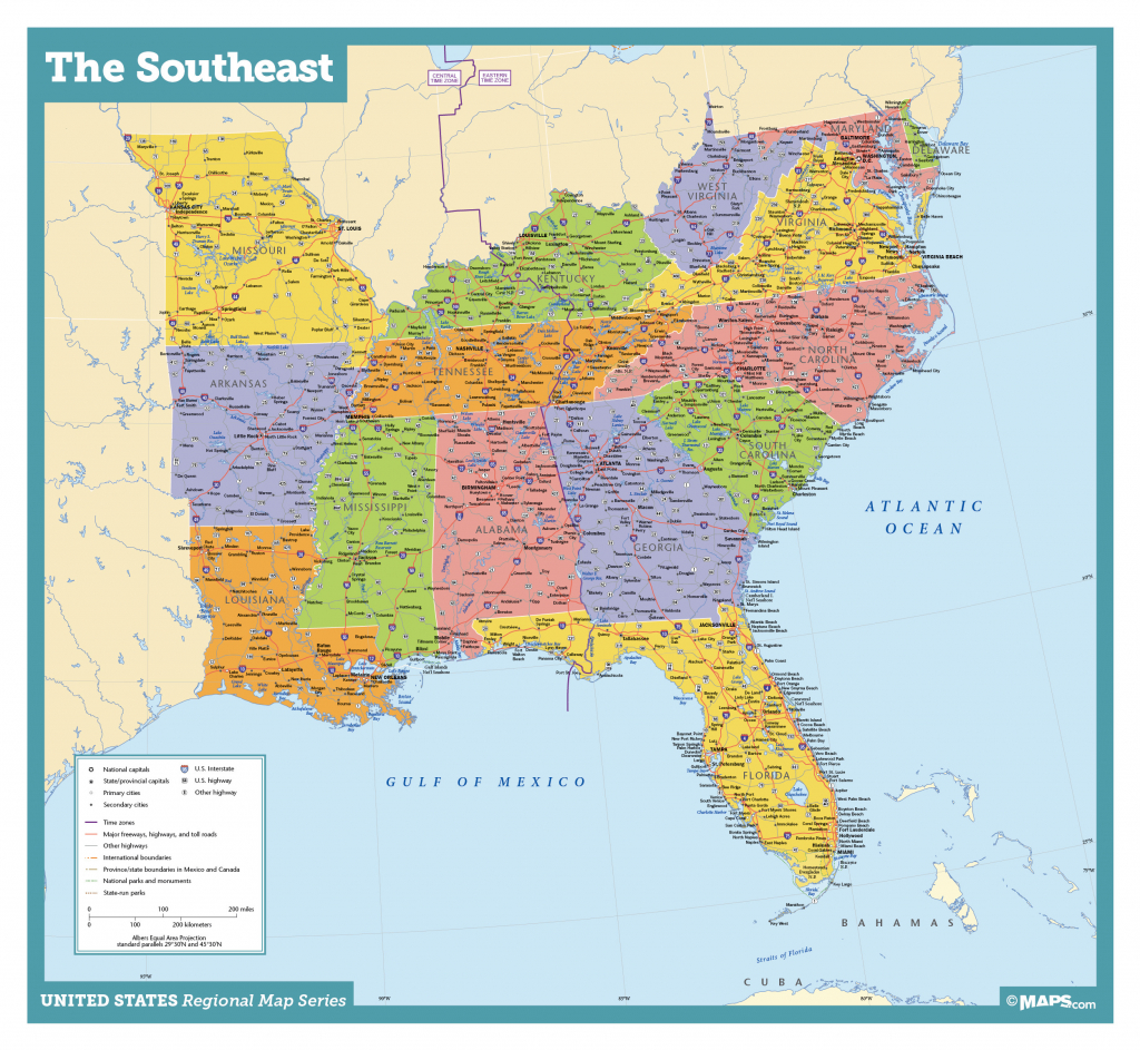 Awesome Us Map Southeast Printable Map Of Se Usa 1 | Passportstatus.co - Printable Map Of Southeast Us