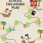 Back To School Treasure Map   Your Everyday Family   Children's Treasure Map Printable