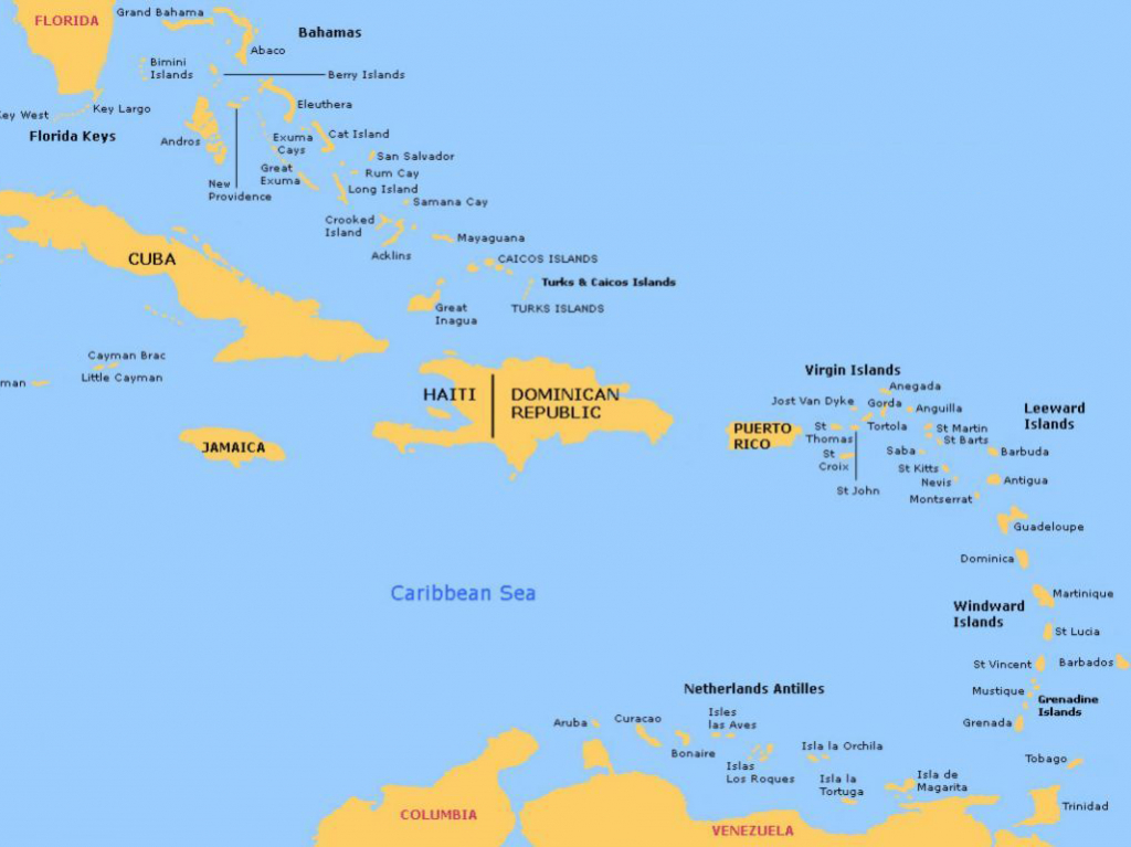 Bahamas And Caribbean Passage And Route Planner - Map Of Florida And Caribbean