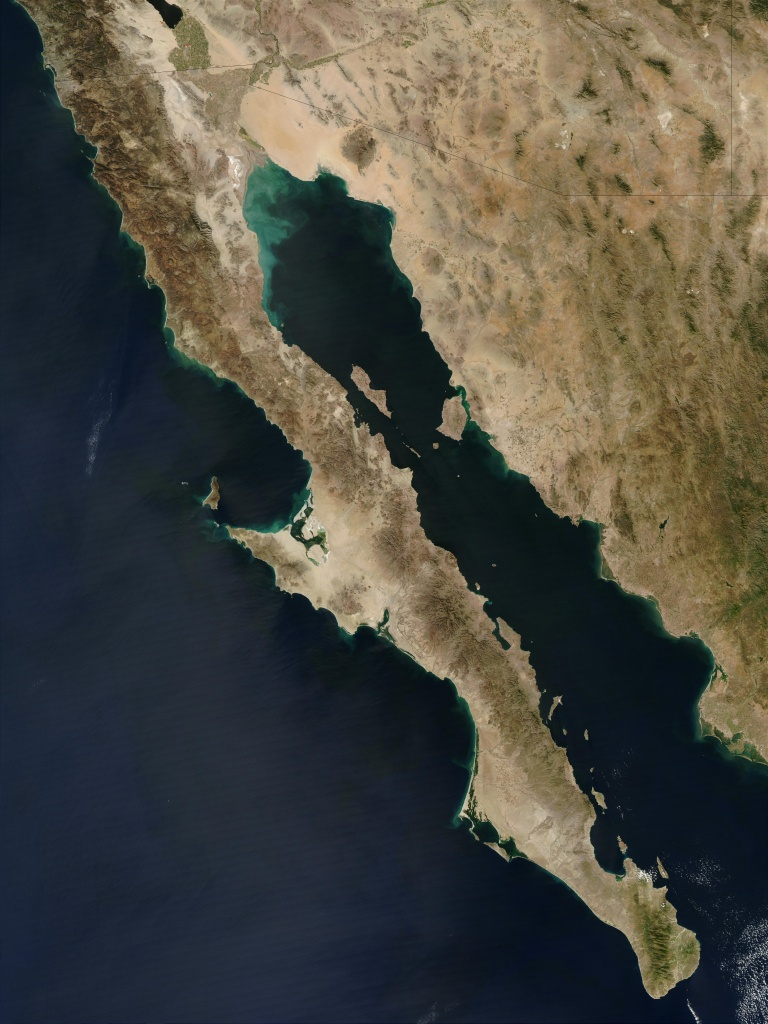 Baja California Peninsula - Wikipedia - Baja California Norte Map
