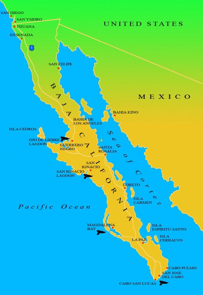 Baja Ecotours | Maps Of Baja California - Map Of Baja California Mexico