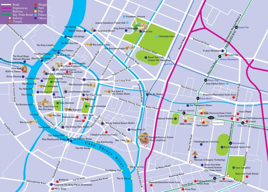 Bangkok Tourist Attractions Map - Bangkok Tourist Map Printable