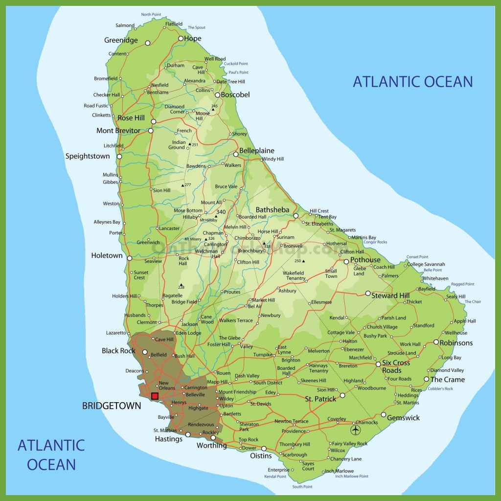 Barbados Maps | Maps Of Barbados - Printable Map Of Barbados