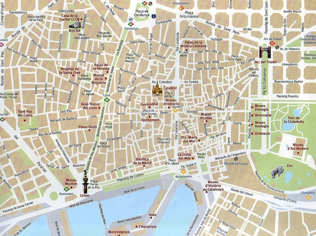 Barcelona Attractions Map Pdf - Free Printable Tourist Map Barcelona - Barcelona Tourist Map Printable