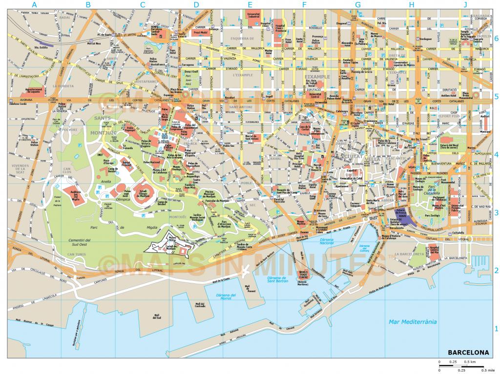 Barcelona City Map - City Map Of Barcelona Printable
