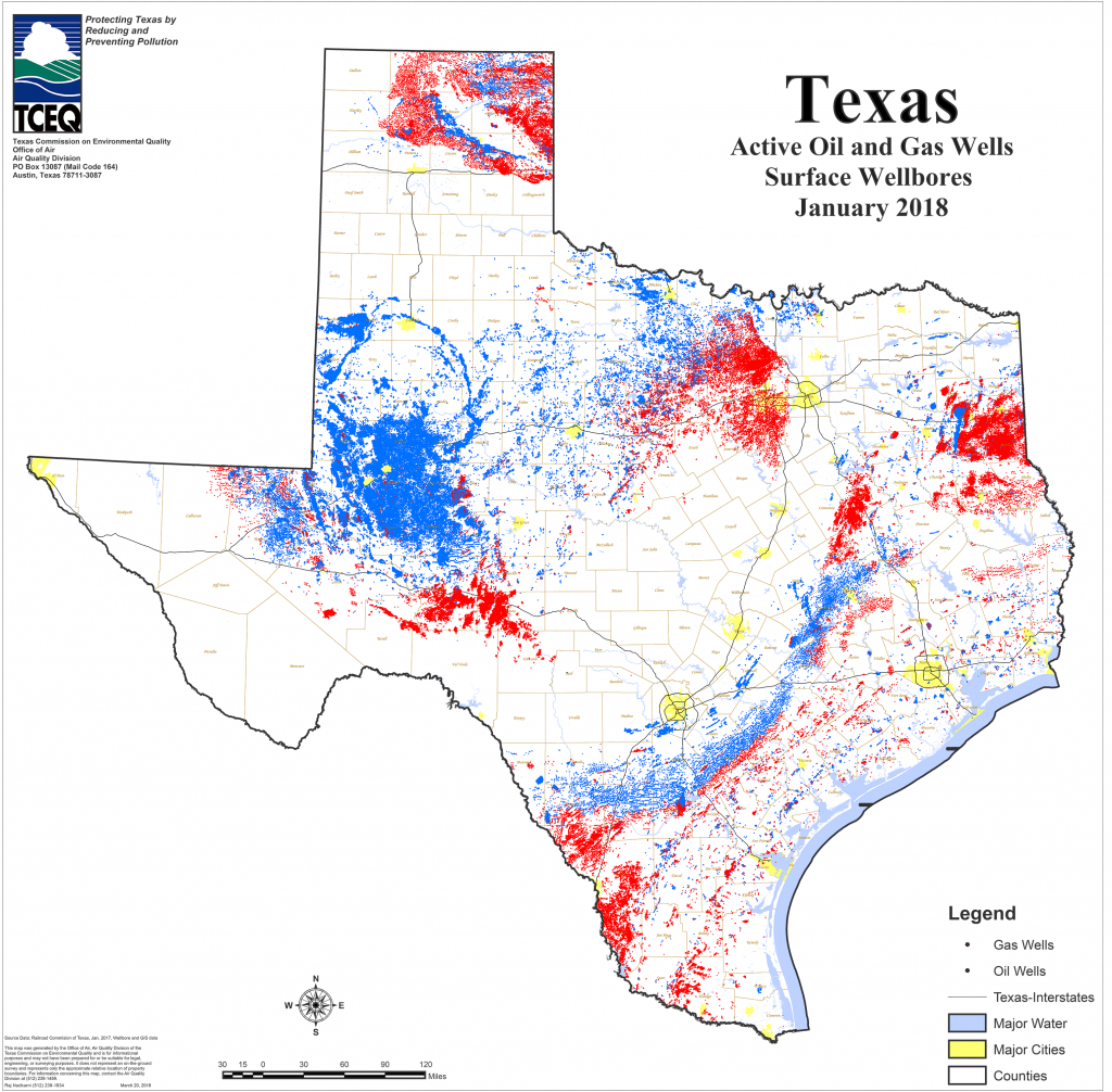 Barnett Shale Maps And Charts - Tceq - Www.tceq.texas.gov - Rule Texas Map