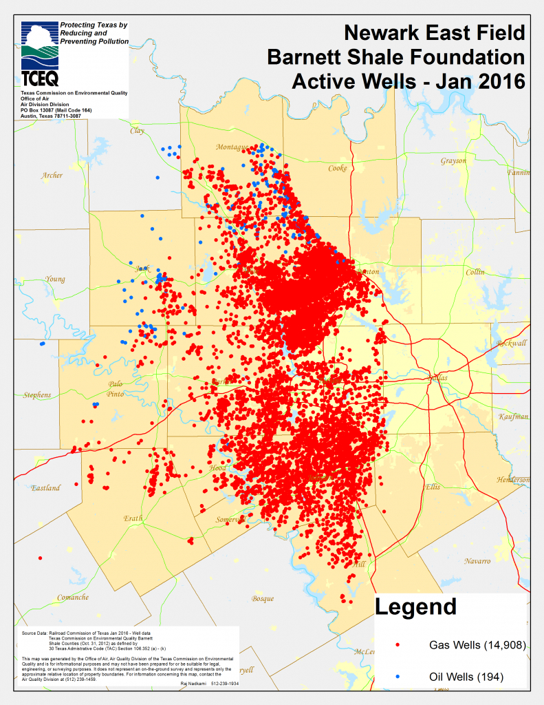 Barnett Shale Maps And Charts - Tceq - Www.tceq.texas.gov - Texas Air Quality Map