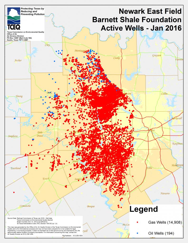 Barnett Shale Maps And Charts - Tceq - Www.tceq.texas.gov - Texas Oil Fields Map