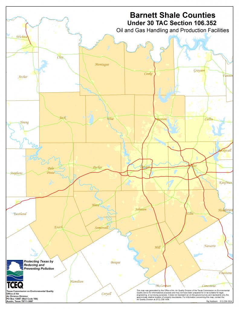Barnett Shale Maps And Charts - Tceq - Www.tceq.texas.gov - Texas Property Lines Map