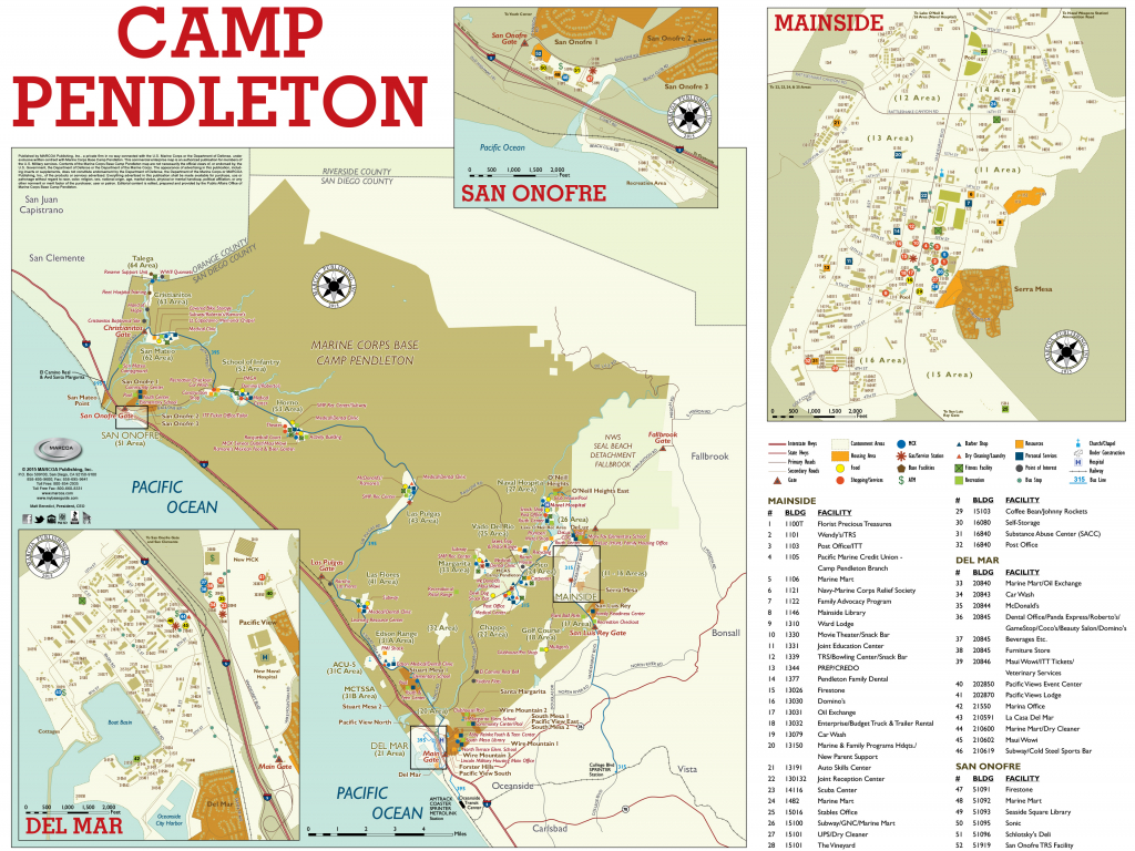 Base Maps — Mccs Camp Pendleton - Del Mar California Map
