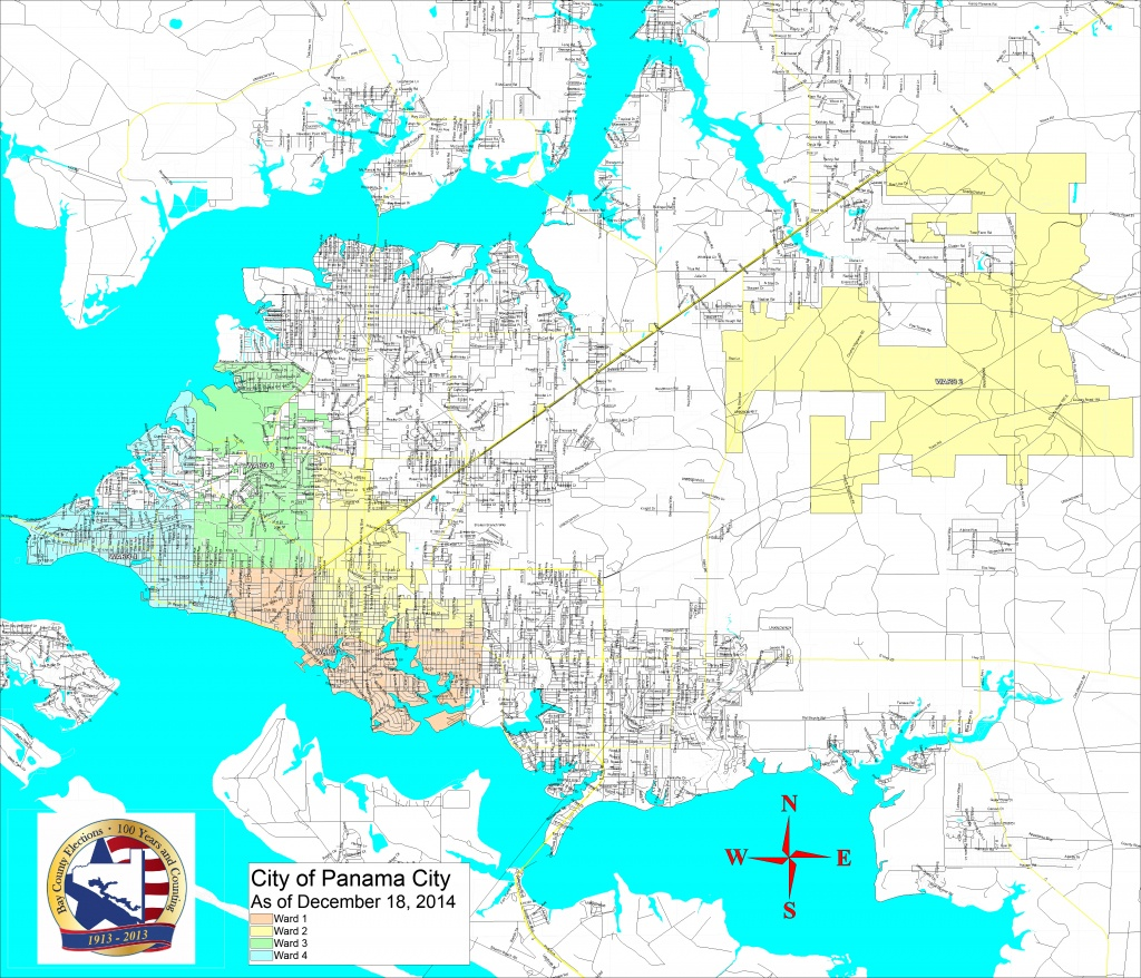 Bay County Supervisor Of Elections > Voter Info > Maps And Boundaries - Street Map Panama City Florida