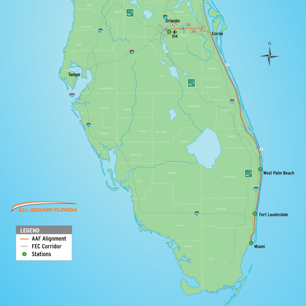 Bbc - Travel - A New Railway Rivals A Glamorous Past - Florida Brightline Map