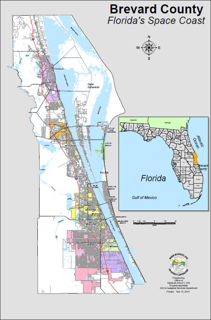 Bcpao - Maps & Data - Satellite Beach Florida Map