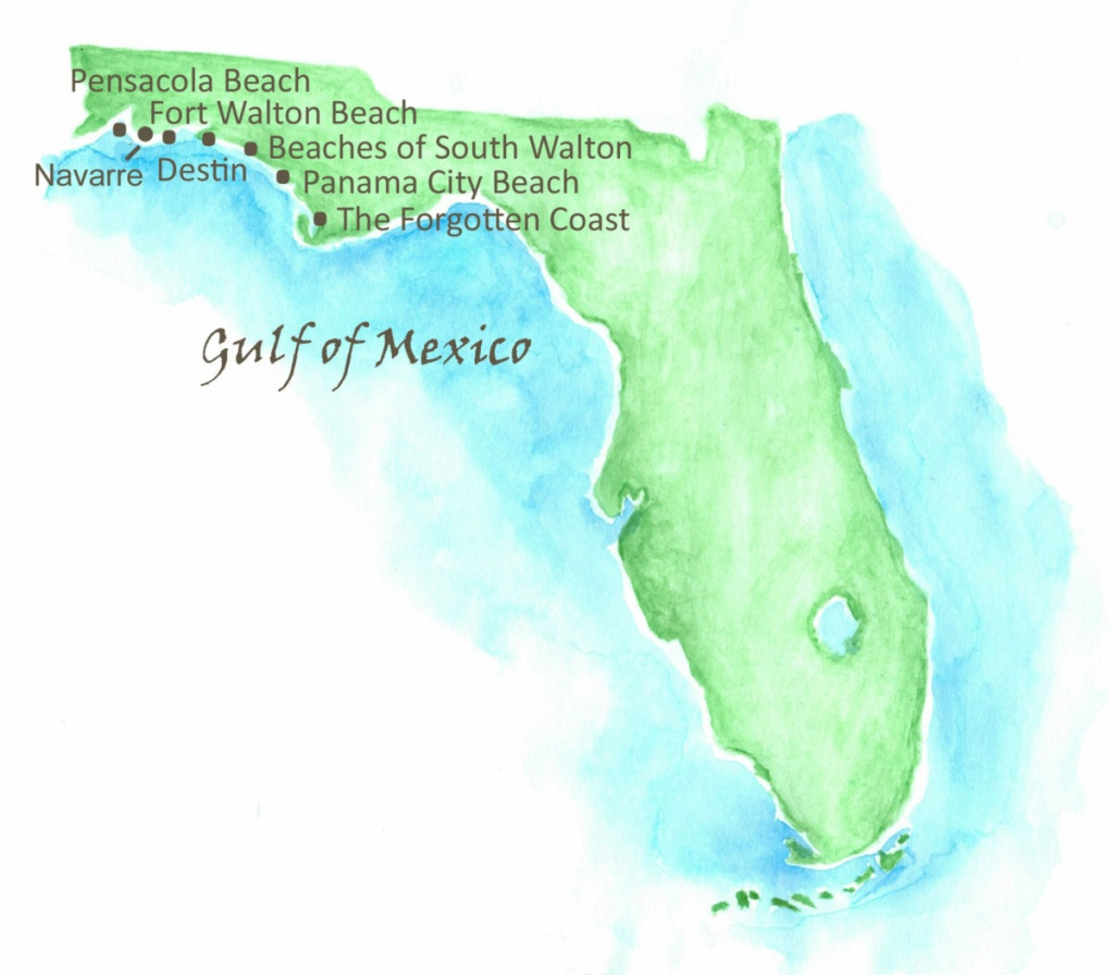 Beaches Of Northwest Florida Map | Southern Vacation Rentals - Northwest Florida Beaches Map