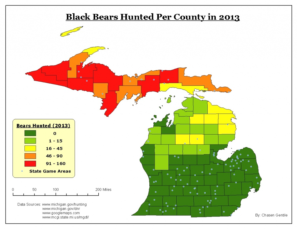 Bears In Michigan Map | Woestenhoeve - Bears In Florida Map