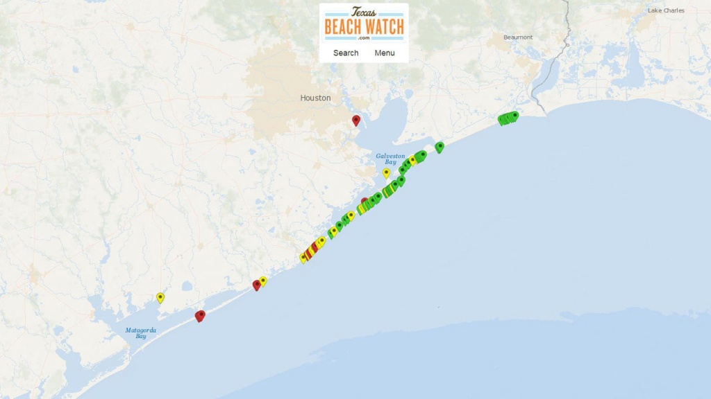 Before You Head To Beach: Elevated Levels Of Fecal Matter - Crystal Beach Texas Map