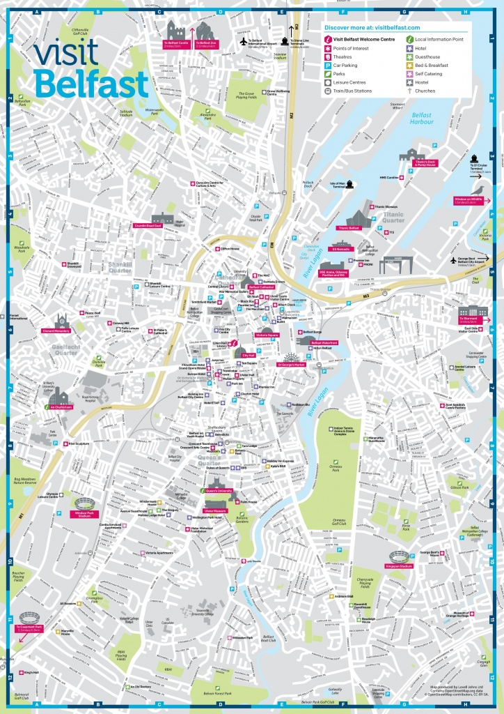 Belfast Sightseeing Map - Belfast City Map Printable