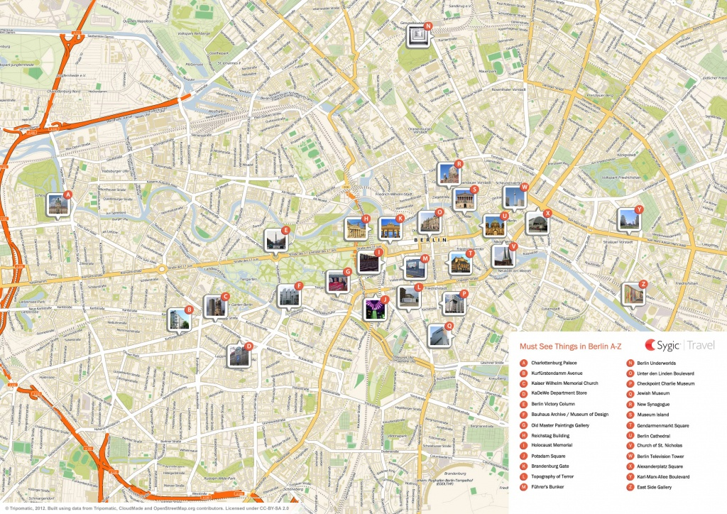 Berlin Printable Tourist Map | Sygic Travel - Berlin Tourist Map Printable