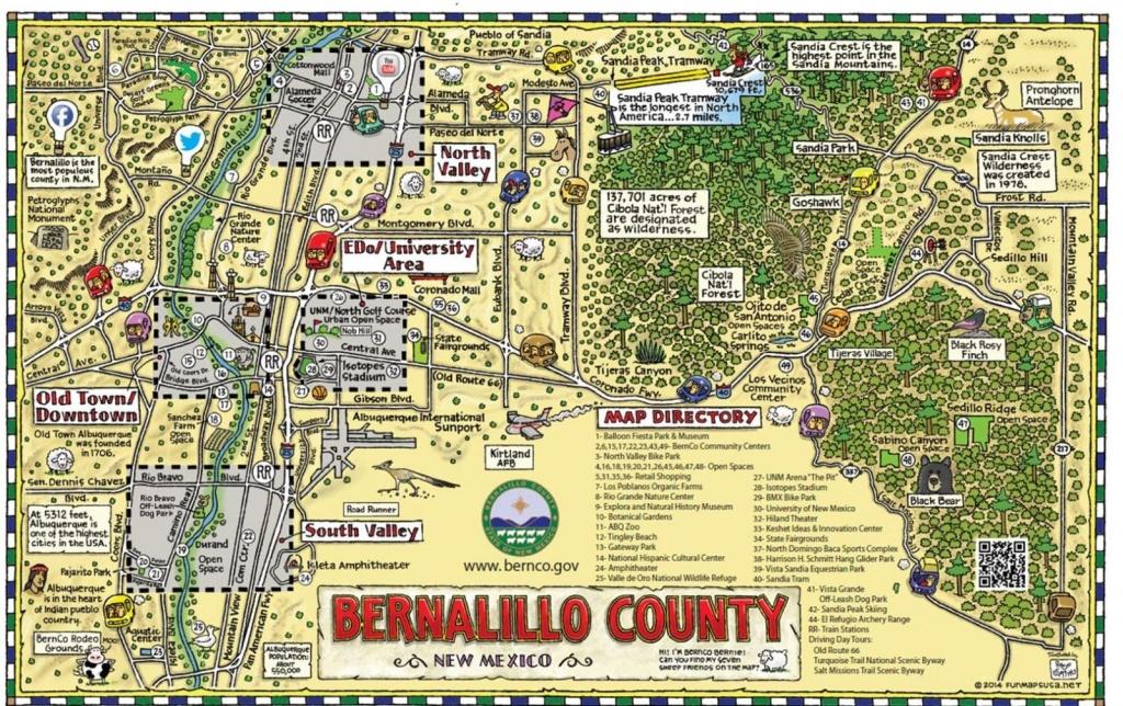 Bernco Bernie's Fun Map - Printable Map Of Albuquerque