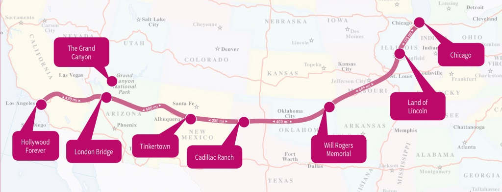Best Driving Road In America: The Historic Route 66 - Fitmycar Road - Map Of Route 66 From Chicago To California