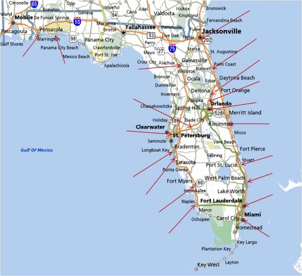 Best East Coast Florida Beaches New Map Florida West Coast Florida - Florida East Coast Beaches Map