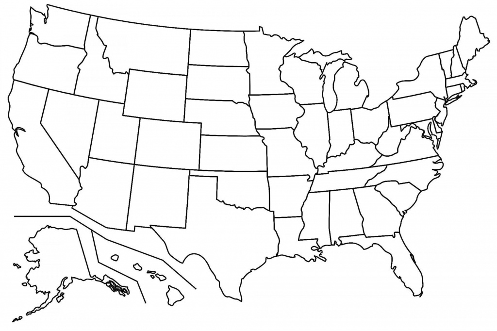 Best Free Us States Outline Clip Art Pictures ~ Vector Images Design - Map Of United States Outline Printable
