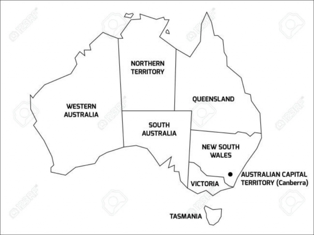 Best Photos Of Australia Map Printable Outline In With States And - Printable Map Of Australia With States And Capital Cities