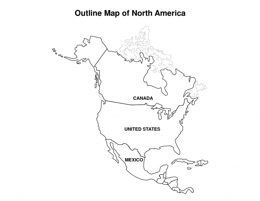 Best Photos Of North America Map Outline Printable Blank Incredible - Printable Usa Map Blank