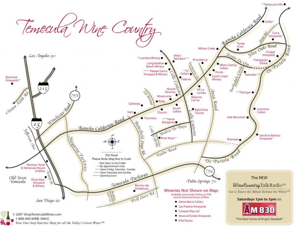 Best Temecula Wineries | Hubpages - Temecula Winery Map Printable