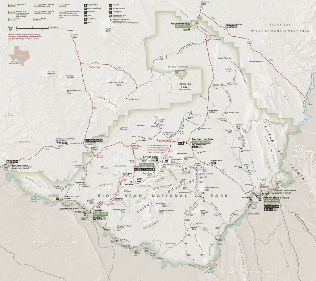 Big Bend Maps | Npmaps - Just Free Maps, Period. - Printable Map Of National Parks