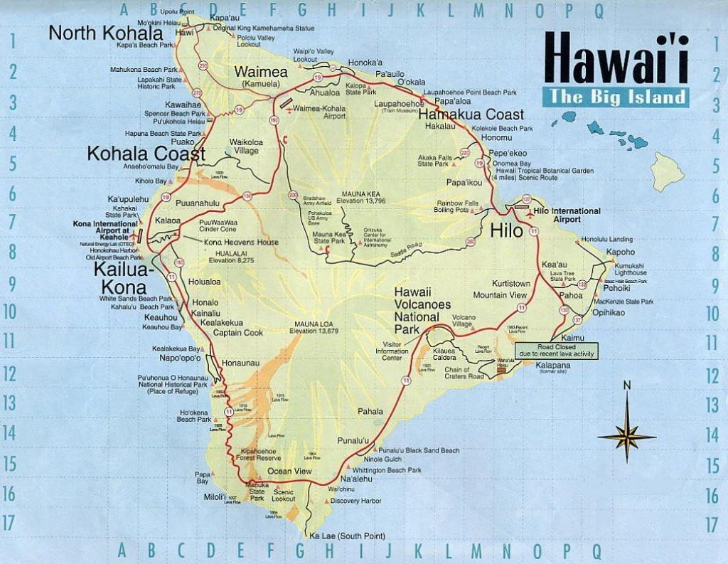 Big Island | Hawai | Polynésie, Voyage, Paysage - Map Of The Big Island Hawaii Printable