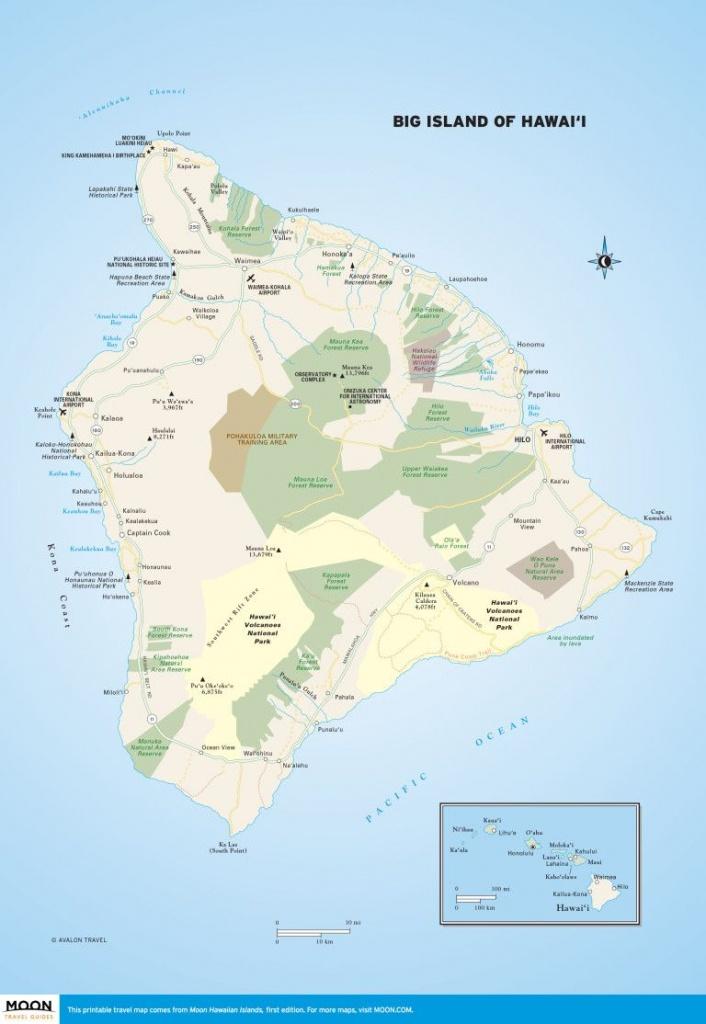 Big Island Of Hawai'i | Scenic Travel | Big Island, Hawaii Volcanoes - Printable Driving Map Of Kauai