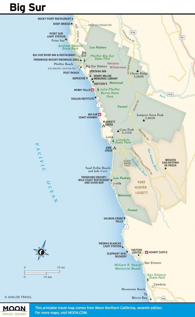 Big Sur Map California Google Maps Coast Beaches Web Art Gallery - Google Maps California Coast