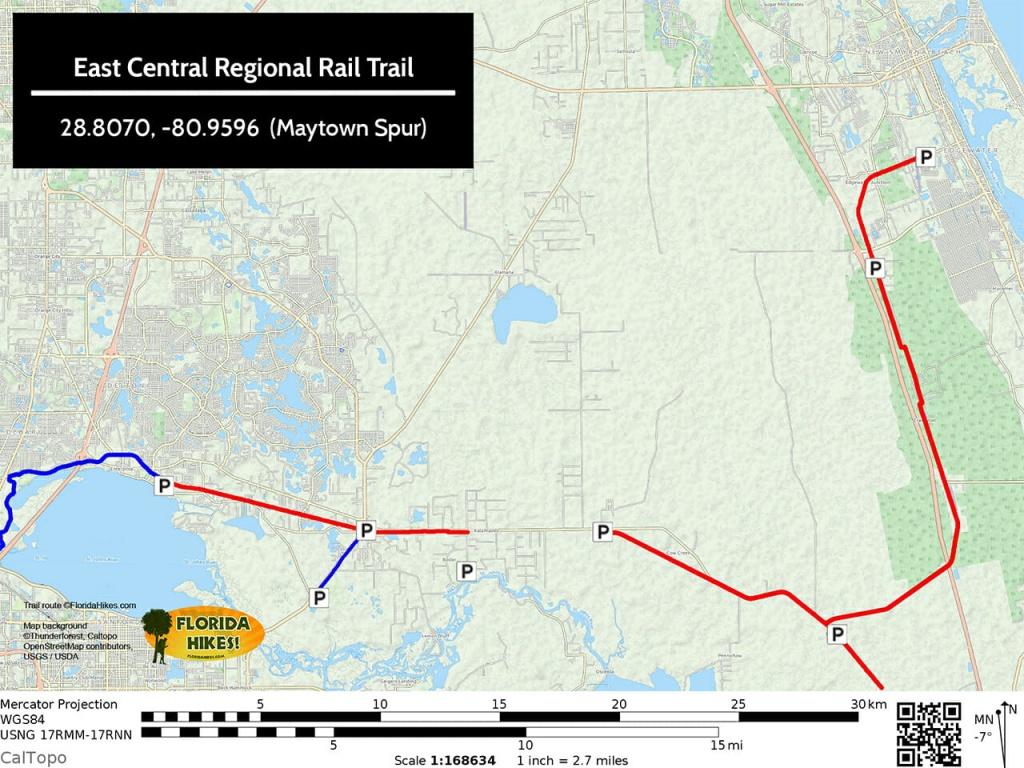 Biking East Central Regional Rail Trail | Ecrrt | Florida Hikes! - Rails To Trails Florida Map