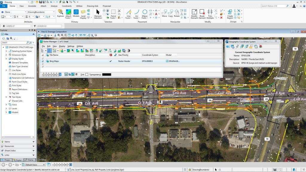 Bing Maps In Microstation - Microstation Blog - Microstation - Bing Maps Florida