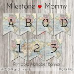 Birthday Banner Map Travel Party Banner Printable Banner | Etsy   Printable Map Banner