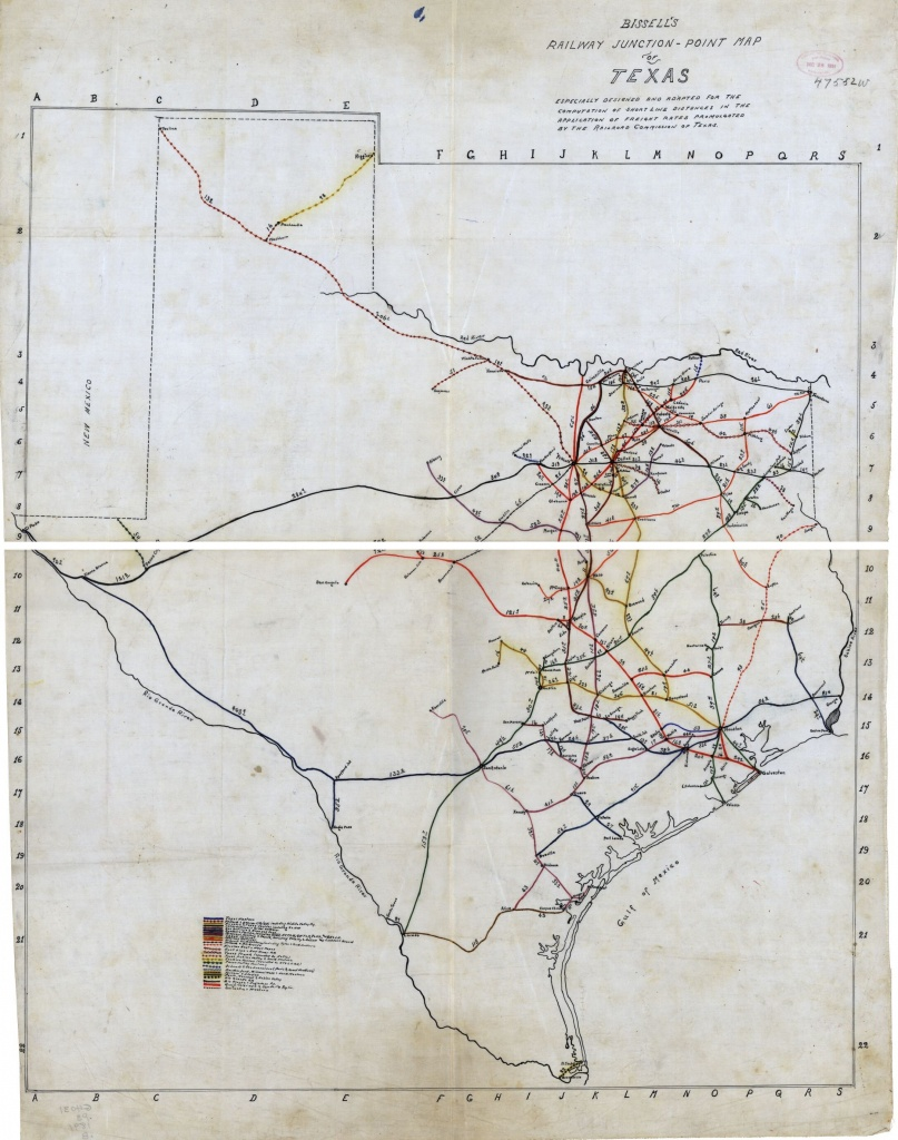 Bissell's Railway Junction Point Map Of Texas   Library Of Congress - Junction Texas Map