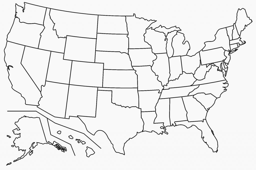 Black And White Map Of Us - Maplewebandpc - United States Map Outline Printable