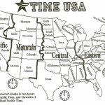 Black And White Us Time Zone Map   Google Search | Social Studies   Printable Time Zone Map Usa And Canada